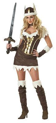 California Costume Sexy Viking Vixen Adult Costume Warrior Size Small 6-8 - Viking Vixen