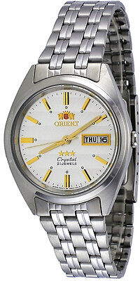 Orient FAB0000DW Men's 3 Star Stainless Steel Silver Dial Automatic Watch