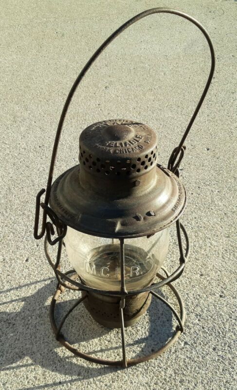 Adlake Kero 1920s ICRR Illinois Central Railroad Lantern Clear MCRR Globe VTG