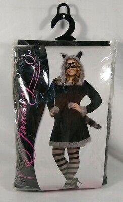 Furry Racy Raccoon Dress Women Adult Plus Size Costume Fantasy Fun World 16W-22W