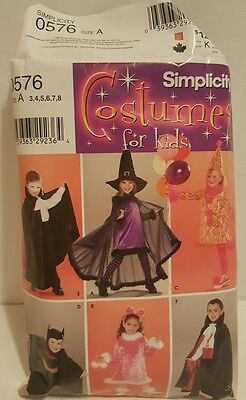 Simplicity Pattern 3650 Costumes for kids Batman Bunny Dracula Witch Clown Child - Clown Costumes For Toddlers