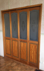 Timber Bi Fold Doors with Frosted Glass Bobs Farm Port Stephens Area Preview