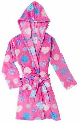 - Komar Kids Girls  Velvet Fleece Hooded Robe Pink