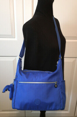 Kipling Alenya Large Roomy Blue Travel Hobo Shoulder Crossbody Messenger Bag