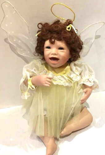 """Ashton Drake I Wish You Happiness Artist Julie Good-Kruger Porcelian Doll 10"""""""