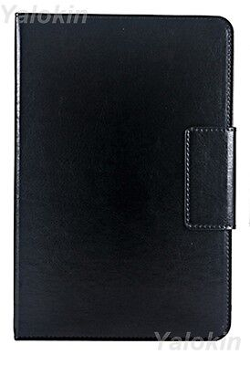 Black Leather Rotating Stand Folio Case Fits Amazon Fire ...