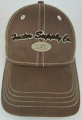 Tractor Supply Company 1938 Brown Beige One Size Adult Strap Back Baseball Hat