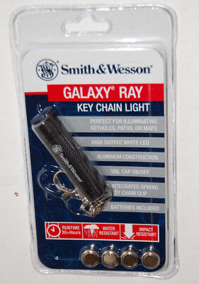 Smith and Wesson Galaxy Ray Black Key Chain (Beam Flashlight Keychains)