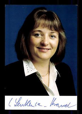 Sabine Leutheusser  Schnarrenberger Autogrammkarte 90er Jahre Original Sign+8074