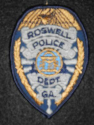 """Roswell Police Dept Patch - Georgia - 2 1/2"""" x 3 1/2"""""""