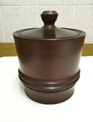 Vintage Wood Turned Jar / Container with Lid Treen Tobacco
