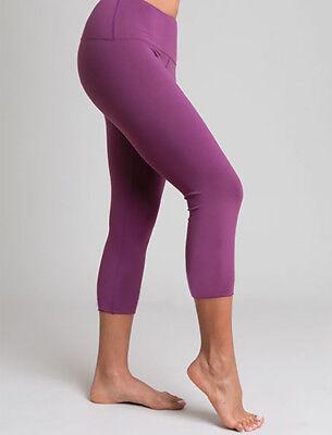Tanya-B Women's Purple Three-Quarter Legging Yoga Pants Size: L - SRP: $89.00 for sale  Shipping to India