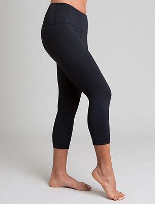 Tanya-B Women's Black Three-Quarter Legging Yoga Pants Size: L - SRP: $89.00 for sale  Shipping to India
