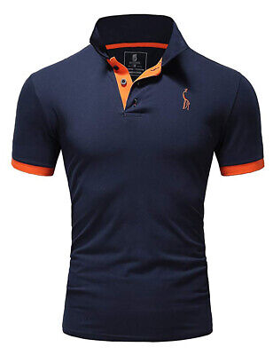 New Mens Polo Shirt T-Shirt Top Short Sleeve Contrast Colours S M L XL PL05