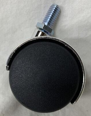 Plastic Twin Swivel Caster Screw Stem 2 Inch Dia Wheel Casters Black 38 In.