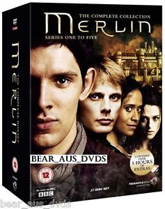 THE ADVENTURES OF MERLIN 1-5 (2008-2013) COMPLETE TV Seasons Series - NEW DVD UK