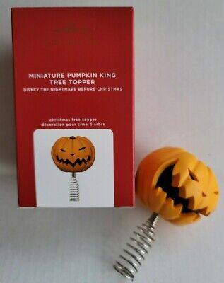 Hallmark 2020 PUMPKIN KING MINIATURE TREE TOPPER Nightmare Before Christmas