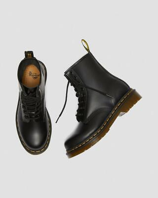 Dr Martens Sizing (Dr. Martens Women's 1460 8-Eyes Smooth Leather Lace Up Boots Black Full)