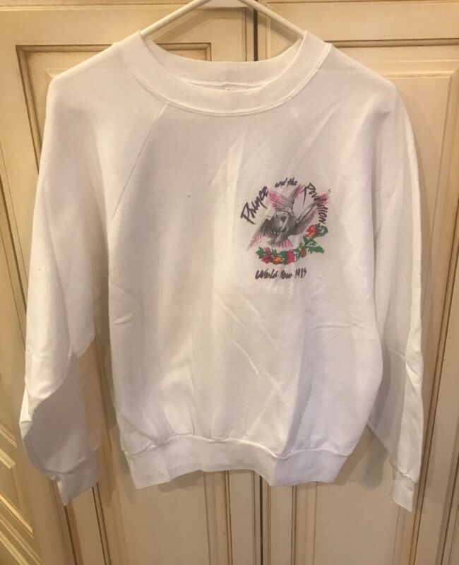 Vintage PRINCE AND THE REVOLUTION WORLD TOUR 1985 SWEATSHIRT L