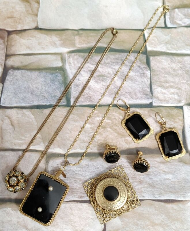 Art Deco Victorian Filigree Mixed Jewelry Lot Large Pieces!!