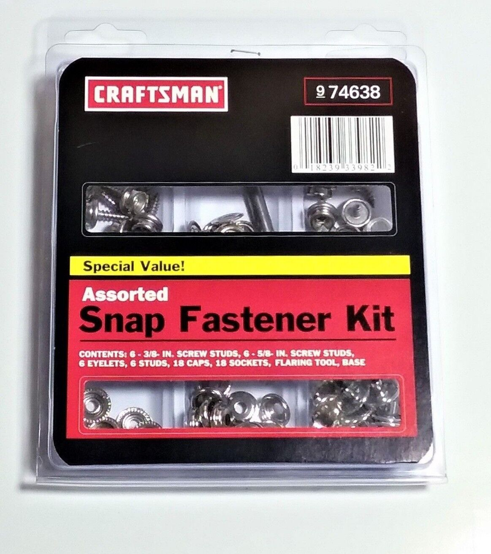 Craftsman Assorted Snap Fastener Kit 74638