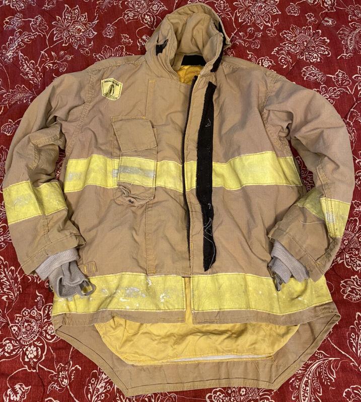 MORNING PRIDE FIREFIGHTER BUNKER TURNOUT GEAR COAT/JACKET 42C 28/34L 32S