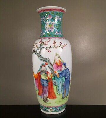SIGNED CHINESE PORCELAIN FAMILLE ROSE CHARACTER VASE REPUBLIC JIANGXI MING EXC   Famille Rose Porcelain Vase