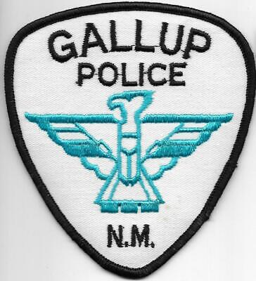NEW MEXICO  Gallup  Police Patch Polizei Abzeichen USA südl.v.Mesa Verde Indians