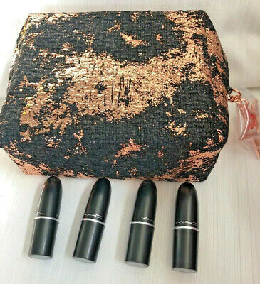 Mac Grande Negro & Rosa Oro Le Neceser 4 Mini Pintalabios Global