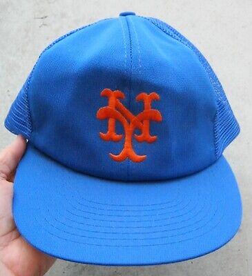 2641c91d VINTAGE NEW YORK METS SNAPBACK OSFA MESH CAP HAT, BLUE W/ORANGE LETTERS,  EXC.