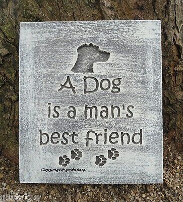 A Dog is man's best friend stepping stone plastic mold