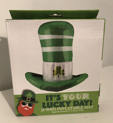 NIB IT'S YOUR LUCKY DAY Jumbo Inflatable Hat 1 1 2/ ft Tall ST. PATRICKS DAY
