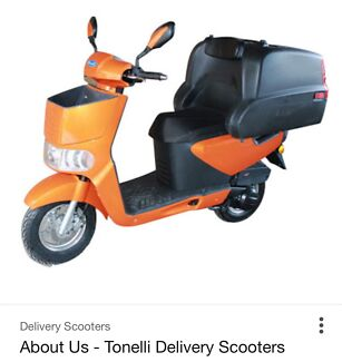 2016 Tonelli Zippy food delivery scooter