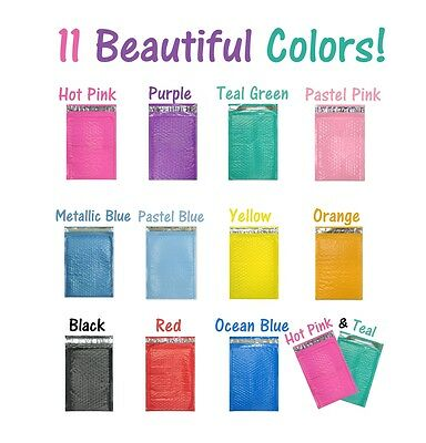 6x10 Colored Poly Bubble Mailers Pinktealpurple Shipping Mailing Envelopes