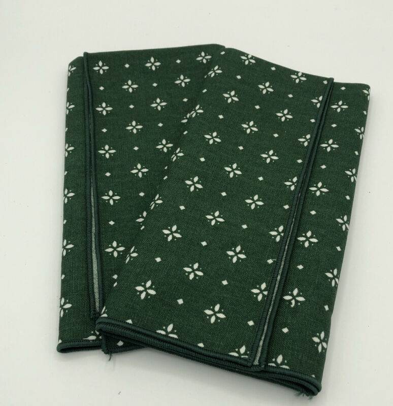 "Longaberger Set of Two Heritage Green 17"" Square Fabric Napkins"