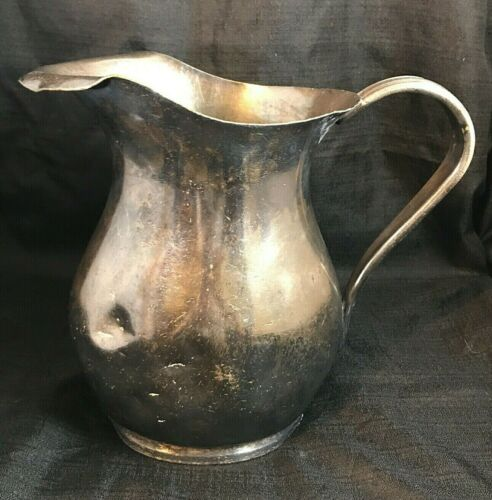 """9"""" Vintage WWII USN United States Navy REED & BARTON  Silver Water Pitcher 3610"""