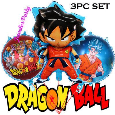 3PC SUPER-DRAGON-BALL-Z-SUPER-Party-Birthday-Anime-Cartoon-Balloon-DRAGONBALL - Dragon Balloons