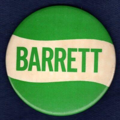 Bill Barrett Brown Prep St  Joes Phila Pa Congress Political Pinback Button  1