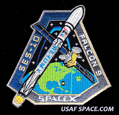 Ses 10   Spacex Original Falcon 9 F9 Launch Usaf Nasa Satellite Mission Patch
