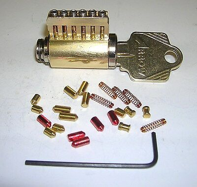 Cutaway Lock Cylinder With Removable Pins For Locksmith Practice And Training.