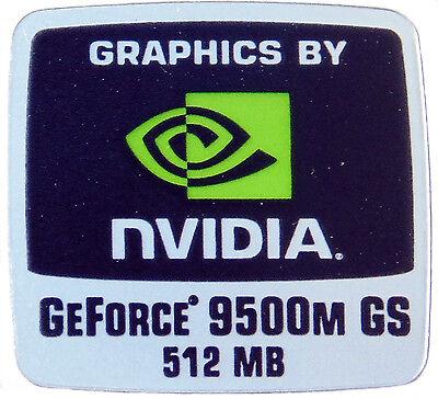 NVIDIA GEFORCE 9500M GS 512MB  STICKER LOGO AUFKLEBER 18x18mm (336) gebraucht kaufen  Versand nach Germany