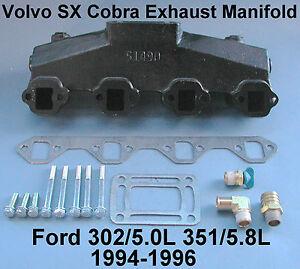 FORD V8 BOAT MARINE EXHAUST MANIFOLD VOLVO SX COBRA 3852347 302 351 1994-1996