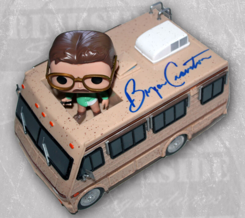 BRYAN CRANSTON SIGNED BREAKING BAD CRYSTAL SHIP FUNKO POP RIDES FIGURE +PSA COA