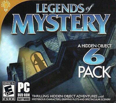 Computer Games - Legends Of Mystery PC Games Windows 10 8 7 XP Computer hidden object seek find