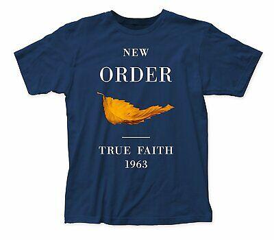 Authentic NEW ORDER True Faith Slim-Fit T-Shirt Blue S M L XL 2XL NEW True Fit T-shirts