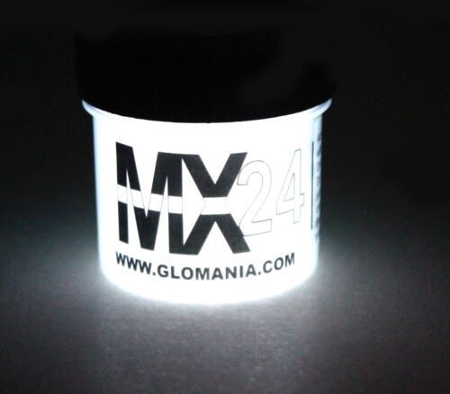 White MX24 Extreme Glow in the Dark Paint  Luminous Strontium Super Bright 1oz