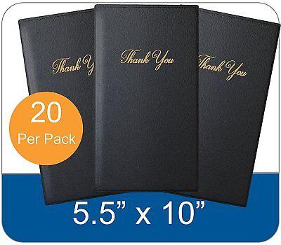 20 Black Guest Check Presenter Book Credit Card Holder Restaurant Bill Receipt