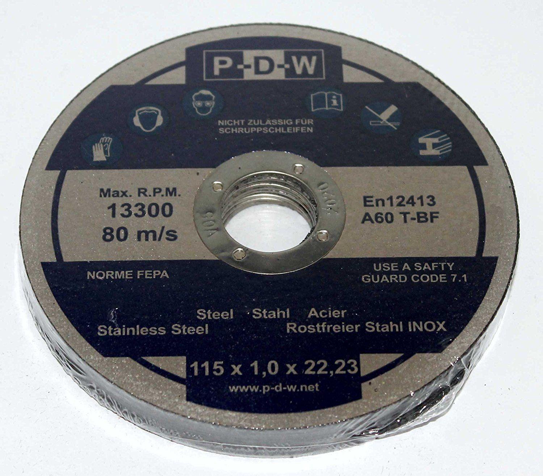 10 Trennscheiben Ø 115 x 1 mm Flexscheibe Winkelschleifer INOX Edelstahl Metall