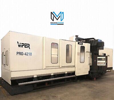 Mighty Viper Pro-4210 Cnc Vertical Bridge Milling 164 X 82 Gantry Vmc Snk Okuma