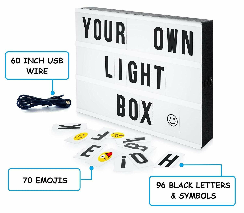MGA Home Cinematic LED Light Box | 96 Letters & Symbols plus